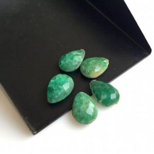 Shop Emerald Faceted Beads! 50 Pieces Wholesale 12x8mm Calibrated Pear Shaped Green Corundum Faceted Gemstones Loose, Both Side Faceted Green Emerald Corundum, SKU-GC5 | Natural genuine faceted Emerald beads for beading and jewelry making.  #jewelry #beads #beadedjewelry #diyjewelry #jewelrymaking #beadstore #beading #affiliate #ad