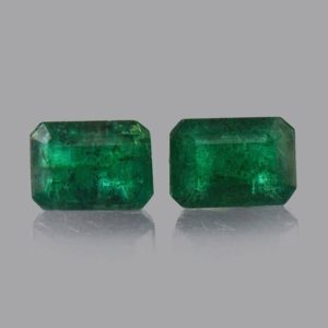 Shop Emerald Stones & Crystals! 1.97 cts Natural Emerald Faceted Cut Octagon 7x5x3.5 mm 2 Pieces Loose Gemstone – 100% Natural Green Emerald Gemstone – EMGRN-1056 | Natural genuine stones & crystals in various shapes & sizes. Buy raw cut, tumbled, or polished gemstones for making jewelry or crystal healing energy vibration raising reiki stones. #crystals #gemstones #crystalhealing #crystalsandgemstones #energyhealing #affiliate #ad