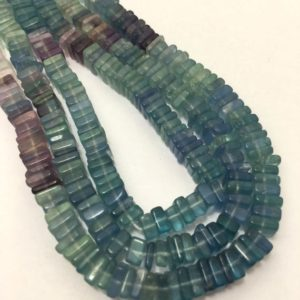 Shop Fluorite Bead Shapes! 5 – 5.5 mm Green Fluorite Disc Square Gemstone Beads Strand Sale / Green fluorite Beads / Fluorite Strand / 5 mm Beads / Fluorite Wholesale | Natural genuine other-shape Fluorite beads for beading and jewelry making.  #jewelry #beads #beadedjewelry #diyjewelry #jewelrymaking #beadstore #beading #affiliate #ad
