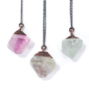 Shop Fluorite Jewelry! Raw fluorite necklace | Rough fluorite jewelry | Fluorite crystal pendant | Flourite octahedron jewelry | Purple fluorite | Green Fluorite | Natural genuine Fluorite jewelry. Buy crystal jewelry, handmade handcrafted artisan jewelry for women.  Unique handmade gift ideas. #jewelry #beadedjewelry #beadedjewelry #gift #shopping #handmadejewelry #fashion #style #product #jewelry #affiliate #ad
