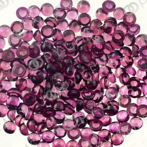Rhodolite Garnet Cabochon 3mm Round – per stone | Natural genuine stones & crystals in various shapes & sizes. Buy raw cut, tumbled, or polished gemstones for making jewelry or crystal healing energy vibration raising reiki stones. #crystals #gemstones #crystalhealing #crystalsandgemstones #energyhealing #affiliate #ad
