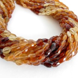 Shop Garnet Faceted Beads! Hessonite Garnet Beads, Shaded Faceted Ovals, Full 14 Inch Strand, Orange Garnets, Faceted Shaded Ovals, Genuine Hessonite Garnets, Hess200 | Natural genuine faceted Garnet beads for beading and jewelry making.  #jewelry #beads #beadedjewelry #diyjewelry #jewelrymaking #beadstore #beading #affiliate #ad