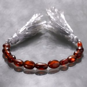 Shop Garnet Bead Shapes! Hessonite Garnet oval gemstone beads strand for jewelry making 10 cm garnet strand 6-9 mm garnet beads | Natural genuine other-shape Garnet beads for beading and jewelry making.  #jewelry #beads #beadedjewelry #diyjewelry #jewelrymaking #beadstore #beading #affiliate #ad