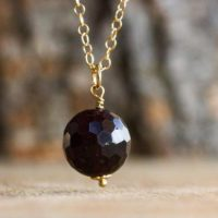 Faceted Garnet Initial Pendant – Garnet Necklace – Garnet Choker – Personalized Gemstone Jewelry – Garnet Jewelry – | Natural genuine Gemstone jewelry. Buy crystal jewelry, handmade handcrafted artisan jewelry for women.  Unique handmade gift ideas. #jewelry #beadedjewelry #beadedjewelry #gift #shopping #handmadejewelry #fashion #style #product #jewelry #affiliate #ad