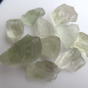 Shop Green Amethyst Beads! 10 Pieces Raw Rough Loose Natural Green Amethyst Gemstones, 15mm to 30mm Green Amethyst Loose Gem Stone, BB475 | Natural genuine chip Green Amethyst beads for beading and jewelry making.  #jewelry #beads #beadedjewelry #diyjewelry #jewelrymaking #beadstore #beading #affiliate #ad