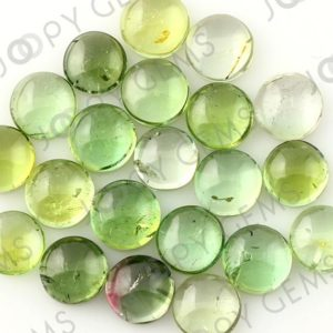 Shop Green Tourmaline Stones & Crystals! Light Green Tourmaline Cabochon 6mm Round – per stone | Natural genuine stones & crystals in various shapes & sizes. Buy raw cut, tumbled, or polished gemstones for making jewelry or crystal healing energy vibration raising reiki stones. #crystals #gemstones #crystalhealing #crystalsandgemstones #energyhealing #affiliate #ad