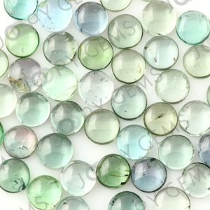 Shop Green Tourmaline Stones & Crystals! Light Blue-green Tourmaline Cabochon 6mm Round – Per Stone | Natural genuine stones & crystals in various shapes & sizes. Buy raw cut, tumbled, or polished gemstones for making jewelry or crystal healing energy vibration raising reiki stones. #crystals #gemstones #crystalhealing #crystalsandgemstones #energyhealing #affiliate #ad