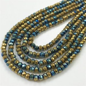 Shop Hematite Faceted Beads! 3x2mm Faceted Multicolor Hematite Rondelle Beads, Hematite Jewelry   Natural genuine faceted Hematite beads for beading and jewelry making.  #jewelry #beads #beadedjewelry #diyjewelry #jewelrymaking #beadstore #beading #affiliate #ad