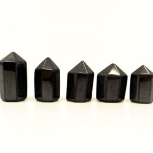 Shop Hematite Points & Wands! Hematite mini crystal tower – Grounding stone, Stone of the Mind, Protection, Crystal Grid | Natural genuine stones & crystals in various shapes & sizes. Buy raw cut, tumbled, or polished gemstones for making jewelry or crystal healing energy vibration raising reiki stones. #crystals #gemstones #crystalhealing #crystalsandgemstones #energyhealing #affiliate #ad