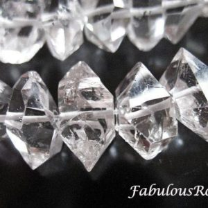 5-50 pcs / 6-8 mm, Herkimer Diamond Raw Herkimer Crystal Genuine Natural Herkimer Gemstone Beads  / Double Terminated Herkimer, Luxe AAA, s | Natural genuine beads Herkimer Diamond beads for beading and jewelry making.  #jewelry #beads #beadedjewelry #diyjewelry #jewelrymaking #beadstore #beading #affiliate #ad