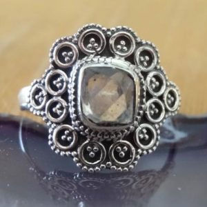 Shop Herkimer Diamond Rings! Bohemian Herkimer diamond Sterling Silver Ring Size 10, Herkimer Diamond 925 Silver Statement Ring Size 10, Metaphysical Herkimer Jewelry   Natural genuine Herkimer Diamond rings, simple unique handcrafted gemstone rings. #rings #jewelry #shopping #gift #handmade #fashion #style #affiliate #ad
