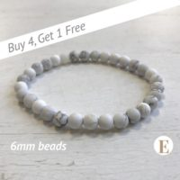 Matte Howlite Bracelet | 6 Mm Beads | Howlite Beads | Stretch Bracelet | Healing Crystal Bracelet | Buy 4 Get 1 Free! | Natural genuine Gemstone jewelry. Buy crystal jewelry, handmade handcrafted artisan jewelry for women.  Unique handmade gift ideas. #jewelry #beadedjewelry #beadedjewelry #gift #shopping #handmadejewelry #fashion #style #product #jewelry #affiliate #ad