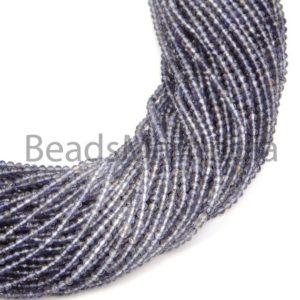 Shop Iolite Faceted Beads! Iolite Shaded Faceted Rondelle Natural Beads, Natural Iolite Beads, iolite Shaded Faceted Beads, iolite Rondelle Beads, iolite Shaded Beads | Natural genuine faceted Iolite beads for beading and jewelry making.  #jewelry #beads #beadedjewelry #diyjewelry #jewelrymaking #beadstore #beading #affiliate #ad