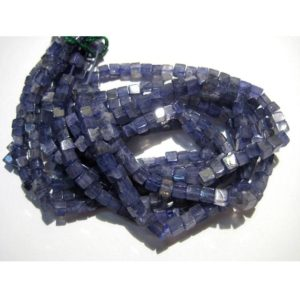 Shop Iolite Bead Shapes! 4mm Iolite Plain Cubes, Vilet Blue Iolite Plain Box Beads, Blue Iolite Beads For Necklace, Iolite (8in To 16in Options) – Ipc | Natural genuine other-shape Iolite beads for beading and jewelry making.  #jewelry #beads #beadedjewelry #diyjewelry #jewelrymaking #beadstore #beading #affiliate #ad