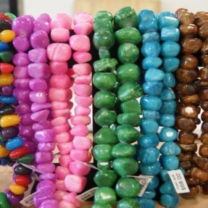 Shop Jade Chip & Nugget Beads! 16x14x10mm Nugget Candy Color Dyed Jade 21x21x11mm Purple, Pink, Green, Blue, Brown Nugget  Jade-15.5 inches- | Natural genuine chip Jade beads for beading and jewelry making.  #jewelry #beads #beadedjewelry #diyjewelry #jewelrymaking #beadstore #beading #affiliate #ad