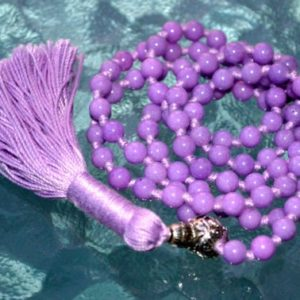 6 mm Purple Jade Prayer Beads Japa Mala Necklace – Buddhist Karma 108+1 Beads -Energized Rosary for Nirvana Meditation Awakening Chakras | Natural genuine Gemstone necklaces. Buy crystal jewelry, handmade handcrafted artisan jewelry for women.  Unique handmade gift ideas. #jewelry #beadednecklaces #beadedjewelry #gift #shopping #handmadejewelry #fashion #style #product #necklaces #affiliate #ad