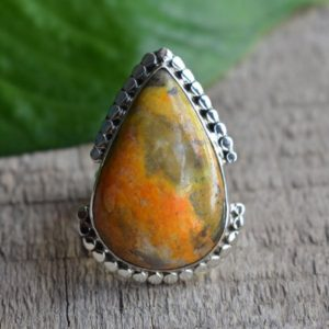 Shop Jasper Rings! bumble bee jasper ring,natural jasper ring,925 silver ring,ring for women,jasper ring | Natural genuine Jasper rings, simple unique handcrafted gemstone rings. #rings #jewelry #shopping #gift #handmade #fashion #style #affiliate #ad