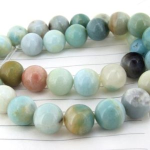 "Charm Round amazone Jasper Gemstone Beads— 12mm—-about 33Pieces—-15.5"" in length 