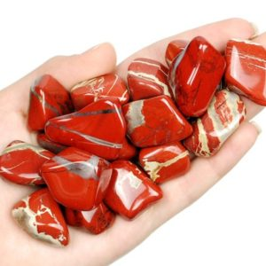 Shop Tumbled Jasper Crystals & Pocket Stones! Large Red Jasper Tumbled Stone, Healing Crystals, Healing Stones, Red Jasper Mineral, Red Jasper Gemstone, LadiesCrystals, Ladies Crystals | Natural genuine stones & crystals in various shapes & sizes. Buy raw cut, tumbled, or polished gemstones for making jewelry or crystal healing energy vibration raising reiki stones. #crystals #gemstones #crystalhealing #crystalsandgemstones #energyhealing #affiliate #ad