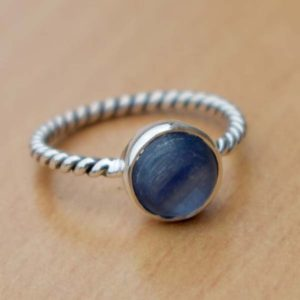 Shop Kyanite Rings! Natural Kyanite Ring,Kyanite Ring,Christmas Gift,Solid 925 Solid Sterling Silver Ring,December birthstone,Handmade Ring,Perfect Girls Gift | Natural genuine Kyanite rings, simple unique handcrafted gemstone rings. #rings #jewelry #shopping #gift #handmade #fashion #style #affiliate #ad