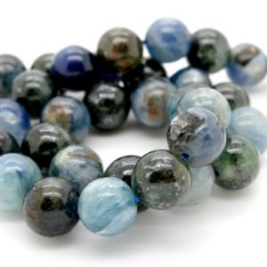 Shop Kyanite Round Beads! Kyanite, Natural Kyanite Smooth Round Sphere Ball Gemstone Beads – Full Strand (6mm 8mm 10mm) | Natural genuine round Kyanite beads for beading and jewelry making.  #jewelry #beads #beadedjewelry #diyjewelry #jewelrymaking #beadstore #beading #affiliate #ad