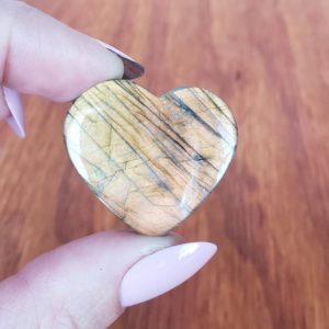 Shop Labradorite Cabochons! Labradorite Cabochon, Heart Shaped Crystal Cab for Jewelry or Crystal Grids 13LC | Natural genuine stones & crystals in various shapes & sizes. Buy raw cut, tumbled, or polished gemstones for making jewelry or crystal healing energy vibration raising reiki stones. #crystals #gemstones #crystalhealing #crystalsandgemstones #energyhealing #affiliate #ad