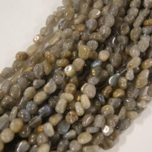 Shop Labradorite Chip & Nugget Beads! Labradorite Smooth Nugget Shaped Natural Gemstone Bead-5mm up to 7mm-15.5 inch strand- | Natural genuine chip Labradorite beads for beading and jewelry making.  #jewelry #beads #beadedjewelry #diyjewelry #jewelrymaking #beadstore #beading #affiliate #ad