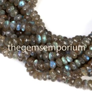 Shop Labradorite Faceted Beads! Labradorite  Rondelle Shape Natural Gemstone Beads, Labradorite Faceted  Gemstone Beads Gemstone Beads, AAA quality | Natural genuine faceted Labradorite beads for beading and jewelry making.  #jewelry #beads #beadedjewelry #diyjewelry #jewelrymaking #beadstore #beading #affiliate #ad