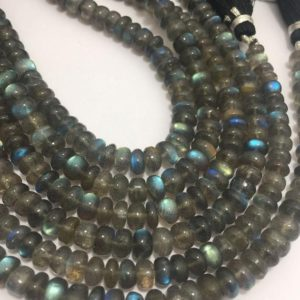 "Shop Labradorite Rondelle Beads! 70 Carats Labradorite Smooth Rondelle 6.5 To 7 Mm 8.5"" / gemstone Beads / semi Precious Beads / rare Beads / labradorite Beads / quality Beads 