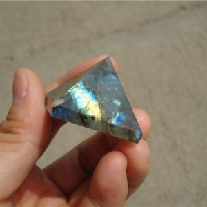 Labradorite Crystal Pyramid, Chakra And Reiki Healing Crystals | Natural genuine stones & crystals in various shapes & sizes. Buy raw cut, tumbled, or polished gemstones for making jewelry or crystal healing energy vibration raising reiki stones. #crystals #gemstones #crystalhealing #crystalsandgemstones #energyhealing #affiliate #ad