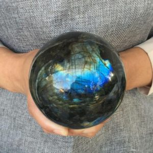 Shop Labradorite Shapes! Large Labradorite Crystal Ball Sphere Healing Crystals And Stones | Natural genuine stones & crystals in various shapes & sizes. Buy raw cut, tumbled, or polished gemstones for making jewelry or crystal healing energy vibration raising reiki stones. #crystals #gemstones #crystalhealing #crystalsandgemstones #energyhealing #affiliate #ad