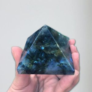 Shop Labradorite Shapes! Large Labradorite Crystal Pyramid, Chakra and Reiki Healing Crystals | Natural genuine stones & crystals in various shapes & sizes. Buy raw cut, tumbled, or polished gemstones for making jewelry or crystal healing energy vibration raising reiki stones. #crystals #gemstones #crystalhealing #crystalsandgemstones #energyhealing #affiliate #ad