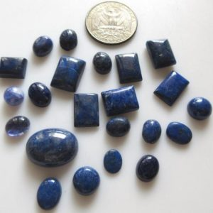 Shop Lapis Lazuli Cabochons! 10 Pieces  8mm to 19mm Natural Lapis Lazuli Mixed Shaped Smooth Flat Back Loose Cabochons GDS1217 | Natural genuine stones & crystals in various shapes & sizes. Buy raw cut, tumbled, or polished gemstones for making jewelry or crystal healing energy vibration raising reiki stones. #crystals #gemstones #crystalhealing #crystalsandgemstones #energyhealing #affiliate #ad