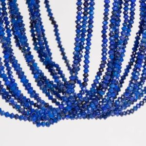 Shop Lapis Lazuli Faceted Beads! 253 Pcs – 2x1MM Deep Blue Lapis Lazuli Beads Grade AAA Genuine Natural Faceted Rondelle Gemstone Loose Beads (111794) | Natural genuine faceted Lapis Lazuli beads for beading and jewelry making.  #jewelry #beads #beadedjewelry #diyjewelry #jewelrymaking #beadstore #beading #affiliate #ad