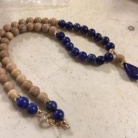 Lapis Necklace – Navy Blue Jewelry – Tan Fasol Coral Gemstone – Gold Jewellery – Statement – Beaded | Natural genuine Gemstone jewelry. Buy crystal jewelry, handmade handcrafted artisan jewelry for women.  Unique handmade gift ideas. #jewelry #beadedjewelry #beadedjewelry #gift #shopping #handmadejewelry #fashion #style #product #jewelry #affiliate #ad