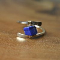 Raw Lapis Lazuli Ring In Sterling Silver, 14k Gold Fill / / December Birthstone / / Wire Wrapped Gemstone Ring / / Healing Crystal / / Boho Ring | Natural genuine Gemstone jewelry. Buy crystal jewelry, handmade handcrafted artisan jewelry for women.  Unique handmade gift ideas. #jewelry #beadedjewelry #beadedjewelry #gift #shopping #handmadejewelry #fashion #style #product #jewelry #affiliate #ad