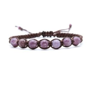 Lepidolite Bracelet | Natural genuine Lepidolite bracelets. Buy crystal jewelry, handmade handcrafted artisan jewelry for women.  Unique handmade gift ideas. #jewelry #beadedbracelets #beadedjewelry #gift #shopping #handmadejewelry #fashion #style #product #bracelets #affiliate #ad
