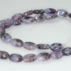 Shop Lepidolite Beads! 12X8mm Light Purple Lepidolite Gemstone Grade A Oval Loose Beads 15.5 inch Full Strand (90188427-657) | Natural genuine other-shape Lepidolite beads for beading and jewelry making.  #jewelry #beads #beadedjewelry #diyjewelry #jewelrymaking #beadstore #beading #affiliate #ad