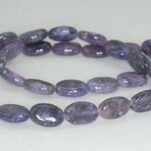 Shop Lepidolite Beads! 12X8mm Purple Lepidolite Gemstone Grade A Oval Loose Beads 16 inch Full Strand (90188426-657) | Natural genuine other-shape Lepidolite beads for beading and jewelry making.  #jewelry #beads #beadedjewelry #diyjewelry #jewelrymaking #beadstore #beading #affiliate #ad