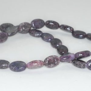 Shop Lepidolite Beads! 12X8mm Purple Lepidolite Gemstone Grade A Oval Loose Beads 15.5 inch Full Strand (90188435-656) | Natural genuine other-shape Lepidolite beads for beading and jewelry making.  #jewelry #beads #beadedjewelry #diyjewelry #jewelrymaking #beadstore #beading #affiliate #ad