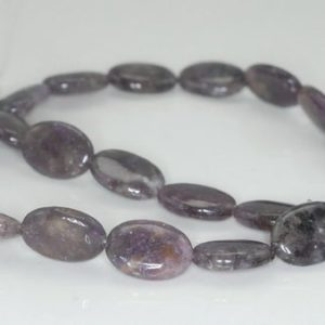Shop Lepidolite Beads! 18X13mm Purple Lepidolite Gemstone Grade A Oval Loose Beads 8 inch Half Strand (90187919-660) | Natural genuine other-shape Lepidolite beads for beading and jewelry making.  #jewelry #beads #beadedjewelry #diyjewelry #jewelrymaking #beadstore #beading #affiliate #ad