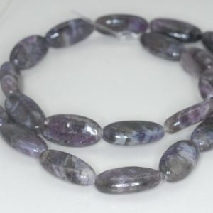 Shop Lepidolite Beads! 18X9mm Light Purple Lepidolite Gemstone Grade A Oval Loose Beads 8 inch Half Strand (90187909-659) | Natural genuine other-shape Lepidolite beads for beading and jewelry making.  #jewelry #beads #beadedjewelry #diyjewelry #jewelrymaking #beadstore #beading #affiliate #ad