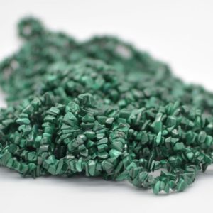"Shop Malachite Chip & Nugget Beads! High Quality Grade A Natural Malachite Semi-precious Gemstone Chips Nuggets Beads – 5mm – 8mm, approx 16"" Strand 