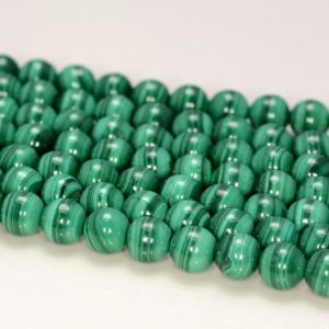 Shop Malachite Round Beads! 6mm Genuine Malachite Gemstone Grade Aaa Green Round 6mm Loose Beads 7.5 Inch Half Strand (80005532-468) | Natural genuine round Malachite beads for beading and jewelry making.  #jewelry #beads #beadedjewelry #diyjewelry #jewelrymaking #beadstore #beading #affiliate #ad