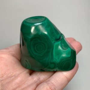 "Shop Malachite Shapes! Malachite Crystal 2.2"" – Polished Natural Stone – Freeform – Healing Crystal – Meditation Crystal- Collectable – Display- From Dr Congo 183g 