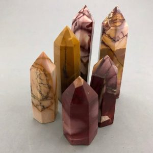 Mookaite Points | Natural genuine stones & crystals in various shapes & sizes. Buy raw cut, tumbled, or polished gemstones for making jewelry or crystal healing energy vibration raising reiki stones. #crystals #gemstones #crystalhealing #crystalsandgemstones #energyhealing #affiliate #ad