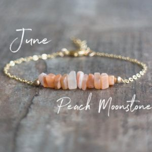 Shop Moonstone Bracelets! Peach Moonstone Bracelet, June Birthday Gifts for Women, Bridesmaids Gift for Her, Pink Moonstone Jewelry, Birthstone Bracelet | Natural genuine Moonstone bracelets. Buy crystal jewelry, handmade handcrafted artisan jewelry for women.  Unique handmade gift ideas. #jewelry #beadedbracelets #beadedjewelry #gift #shopping #handmadejewelry #fashion #style #product #bracelets #affiliate #ad