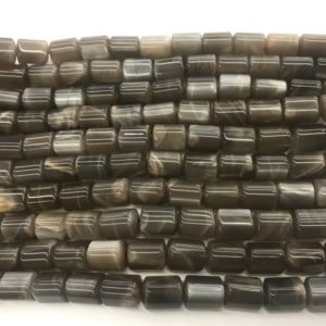 Genuine Gray Moonstone 10x13mm Triangular Prism Natural Loose Tube Beads 15 inch Jewelry Supply Bracelet Necklace Material Wholesale | Natural genuine other-shape Gemstone beads for beading and jewelry making.  #jewelry #beads #beadedjewelry #diyjewelry #jewelrymaking #beadstore #beading #affiliate #ad