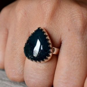 Shop Moss Agate Rings! US SIZE 8 – Moss Agate ring , moss agate ring , 925 sterling silver , agate gemstone silver ring , women jewellery gift #B175   Natural genuine Moss Agate rings, simple unique handcrafted gemstone rings. #rings #jewelry #shopping #gift #handmade #fashion #style #affiliate #ad