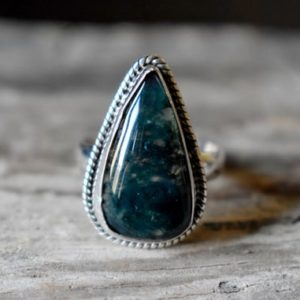 Shop Moss Agate Rings! US SIZE 9.5 – Moss Agate ring , moss agate ring , 925 sterling silver , agate gemstone silver ring , women jewellery gift #B66   Natural genuine Moss Agate rings, simple unique handcrafted gemstone rings. #rings #jewelry #shopping #gift #handmade #fashion #style #affiliate #ad